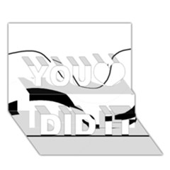 Waves - black and white You Did It 3D Greeting Card (7x5)