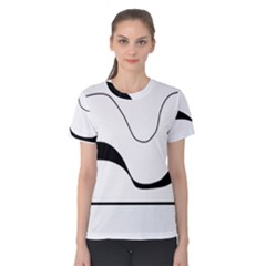 Waves - black and white Women s Cotton Tee