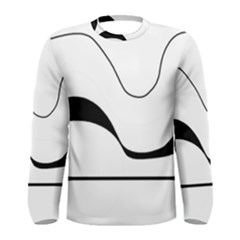 Waves - black and white Men s Long Sleeve Tee