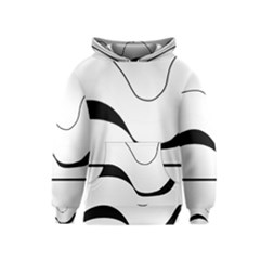 Waves   Black And White Kids  Pullover Hoodie