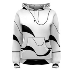 Waves - black and white Women s Pullover Hoodie