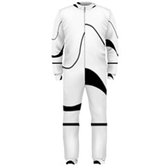 Waves - black and white OnePiece Jumpsuit (Men)