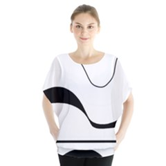 Waves   Black And White Blouse