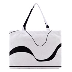 Waves - black and white Medium Tote Bag