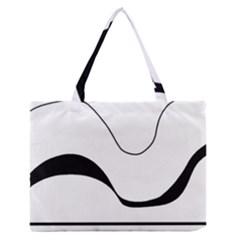 Waves - black and white Medium Zipper Tote Bag
