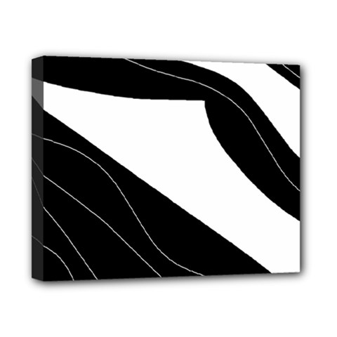 White and black decorative design Canvas 10  x 8