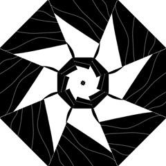 White and black decorative design Straight Umbrellas