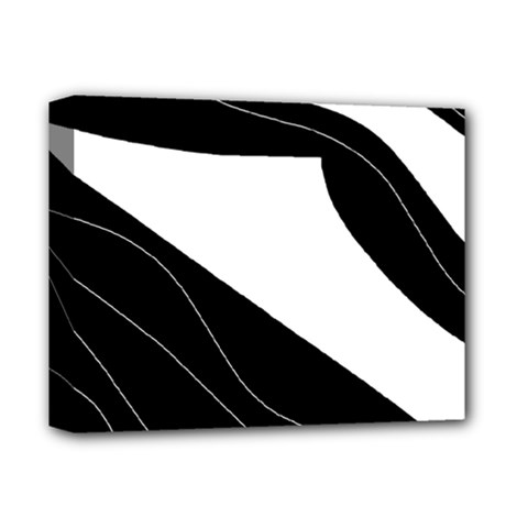 White and black decorative design Deluxe Canvas 14  x 11