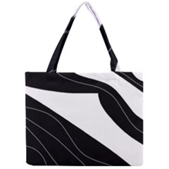 White and black decorative design Mini Tote Bag
