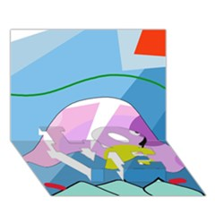Under The Sea Love Bottom 3d Greeting Card (7x5)