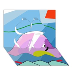 Under the sea Clover 3D Greeting Card (7x5)