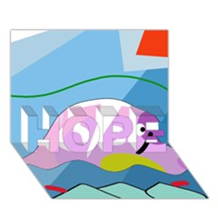 Under the sea HOPE 3D Greeting Card (7x5)