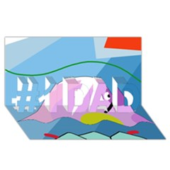 Under the sea #1 DAD 3D Greeting Card (8x4)