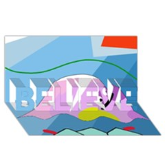 Under the sea BELIEVE 3D Greeting Card (8x4)