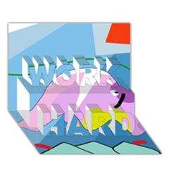 Under the sea WORK HARD 3D Greeting Card (7x5)
