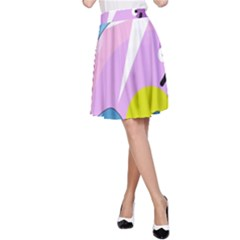 Under the sea A-Line Skirt