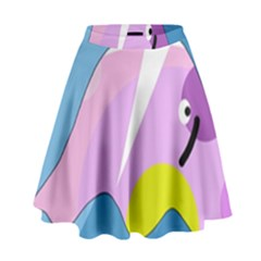 Under the sea High Waist Skirt