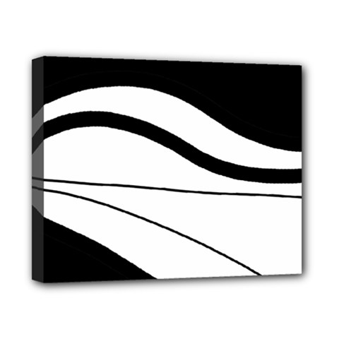 White and black harmony Canvas 10  x 8