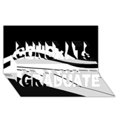 White and black harmony Congrats Graduate 3D Greeting Card (8x4)