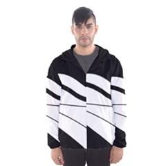 White and black harmony Hooded Wind Breaker (Men)