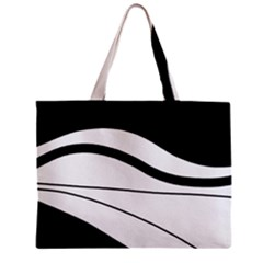 White and black harmony Zipper Mini Tote Bag