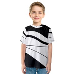 White and black harmony Kids  Sport Mesh Tee