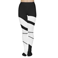 White and black harmony Women s Tights