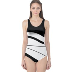 White and black harmony One Piece Swimsuit