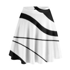 White and black harmony High Waist Skirt