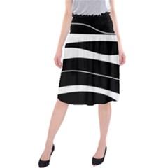 Black light Midi Beach Skirt
