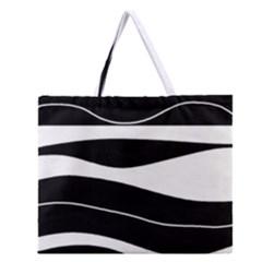 Black Light Zipper Large Tote Bag