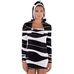 Black light Women s Long Sleeve Hooded T-shirt