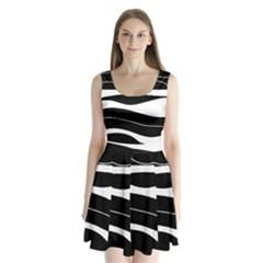 Black light Split Back Mini Dress