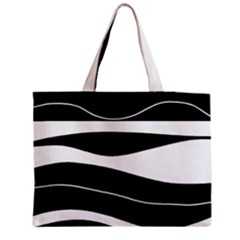 Black Light Medium Zipper Tote Bag