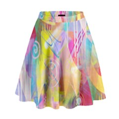 Painted Chaos High Waist Skirt