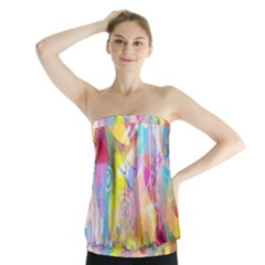 Painted Chaos Strapless Top