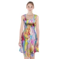 Painted Chaos Racerback Midi Dress