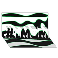 Green, white and black #1 MOM 3D Greeting Cards (8x4)