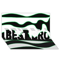 Green, white and black BEST BRO 3D Greeting Card (8x4)