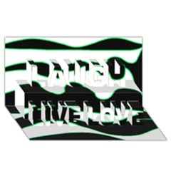 Green, white and black Laugh Live Love 3D Greeting Card (8x4)