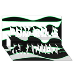 Green, white and black Congrats Graduate 3D Greeting Card (8x4)