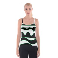 Green, white and black Spaghetti Strap Top