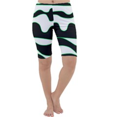 Green, white and black Cropped Leggings
