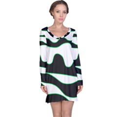 Green, white and black Long Sleeve Nightdress