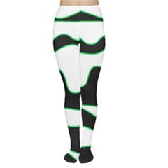 Green, white and black Women s Tights