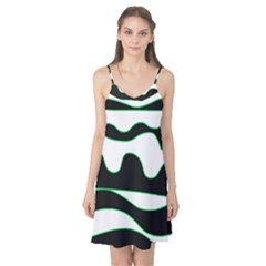 Green, white and black Camis Nightgown