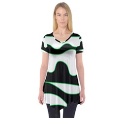 Green, white and black Short Sleeve Tunic