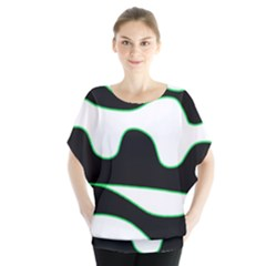 Green, white and black Blouse