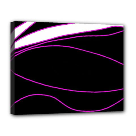 Purple, white and black lines Canvas 14  x 11