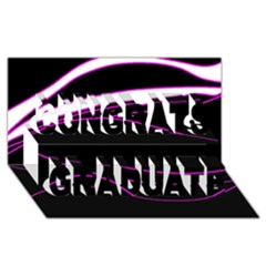 Purple, white and black lines Congrats Graduate 3D Greeting Card (8x4)